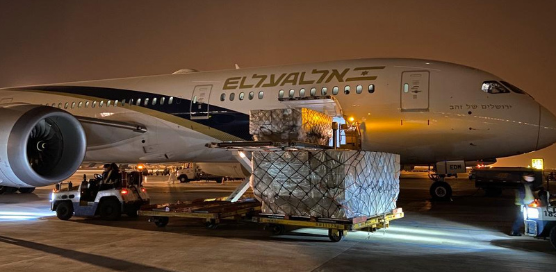 Vital medical equipment  / Photo: El Al, ira prohorov