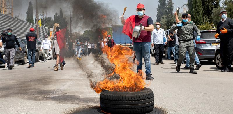 הפגנה של העצמאים מול הכנסת / צילום: כדיה לוי, גלובס
