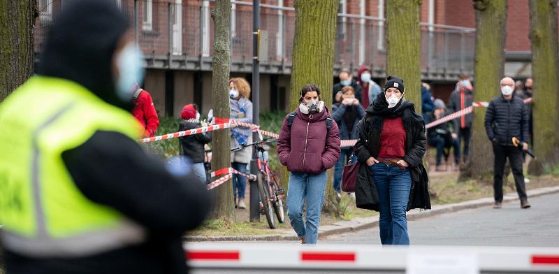 ברלין בצל הקורונה / צילום: Kay Nietfeld/dpa via AP, AP
