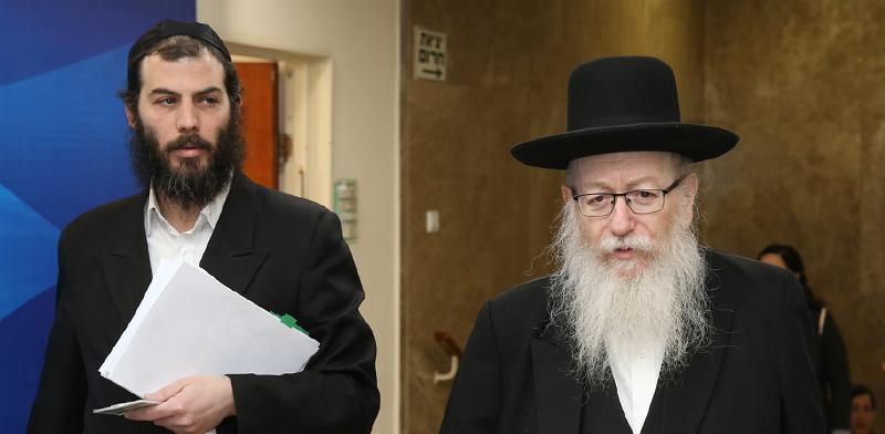 """יעקב ליצמן ומוטי בבצ'יק / צילום: עמית שאבי, """"ידיעות אחרונות"""""""