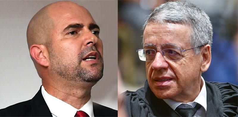 שופט העליון מני מזוז ושר המשפטים אמיר אוחנה / צילום: רפי קוץ