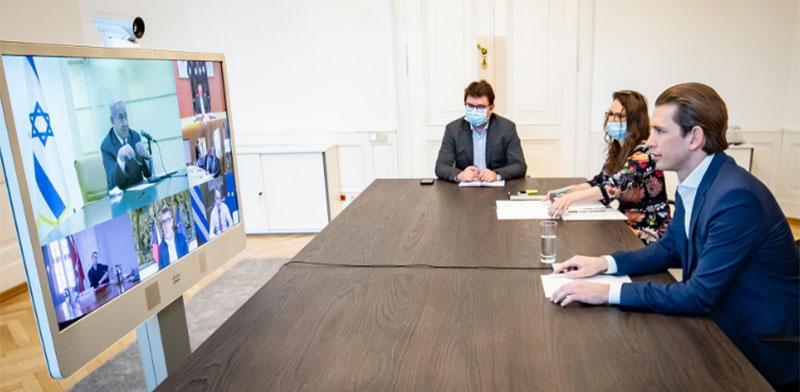 פגישת סבסטיאן קורץ ובנימין נתניהו  / צילום: מתוך הטוויטר של סבסטיאן קורץ