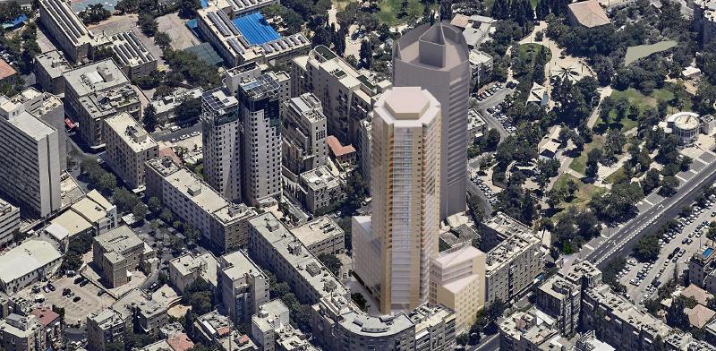 מגדל פזגז בירושלים / הדמיה: פיי-קוב-פריד אדריכלים
