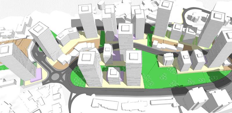 התחדשות עירונית ברחוב הנורית בירושלים / הדמיה: ראי כהן אדריכלים
