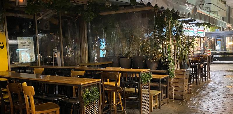 Restaurant in lockdown / Photo: Bar Lavi , Globes
