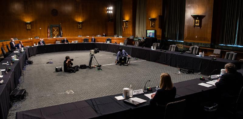 דיון בסנאט על הקלות ללווים / צילום: Salwan Georges, Associated Press