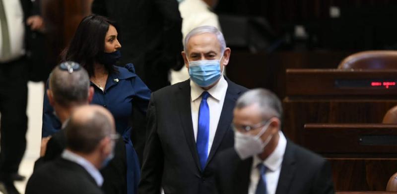 ראש הממשלה בנימין נתניהו בהשבעת הכנסת ה-35 / צילום:  עמוס בן גרשום, דוברות הכנסת