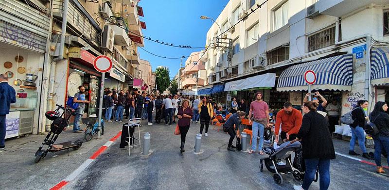 מדרחוב לוינסקי בתל אביב / צילום: דוברות עיריית תל אביב-יפו