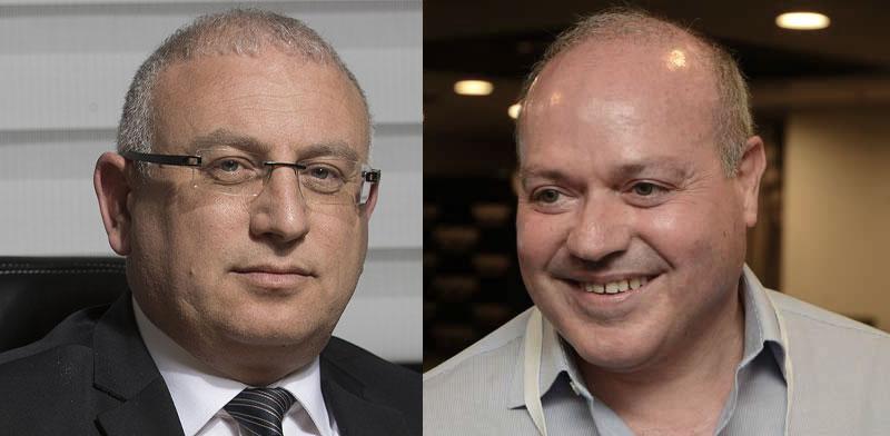"""מישל סיבוני מנכ""""ל הראל ושל שמעון מירון מנכ""""ל הכשרה ביטוח / צילום: איל יצהר, רמי זרנגר"""
