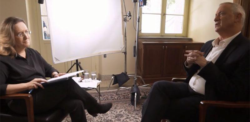 אילנה דיין מראיינת את בני גנץ / צילום: צילום מסך