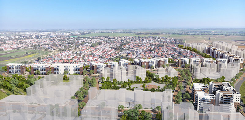 שכונת אגמים בדרום העיר אשקלון / הדמיה: דני שמש Ddesign3