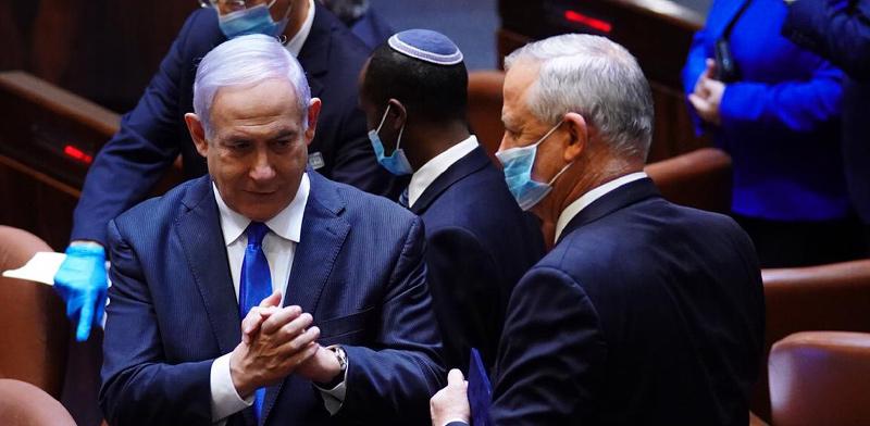 בני גנץ ובנימין נתניהו בהשבעת הכנסת ה-35 / צילום: עדינה ולמן, דוברות הכנסת