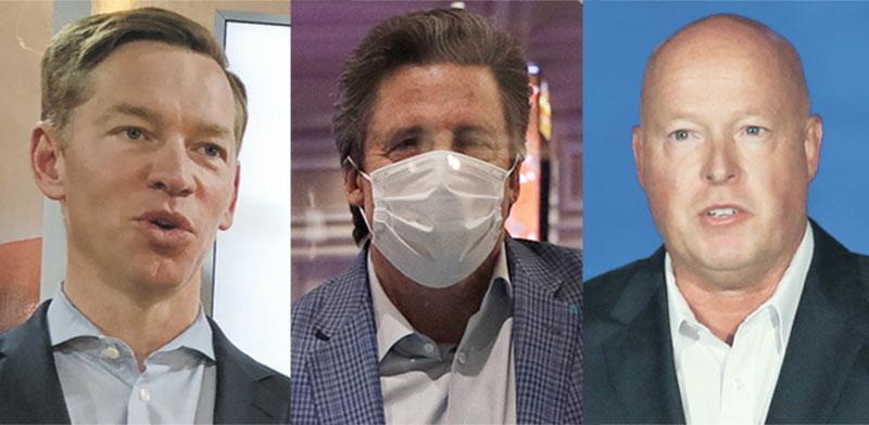 "בוב צ'פק, מנכ""ל דיסני, ביל הורנבאקל, נשיא ומנכ""ל MGM רזורטס, כריס קמפצ'ינסקי, מנכ""ל מקדונלדס / צילום: Associated Press"