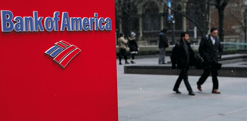 סניף של בנק אוף אמריקה במנהטן, ניו יורק / צילום: Carlo Allegri, רויטרס