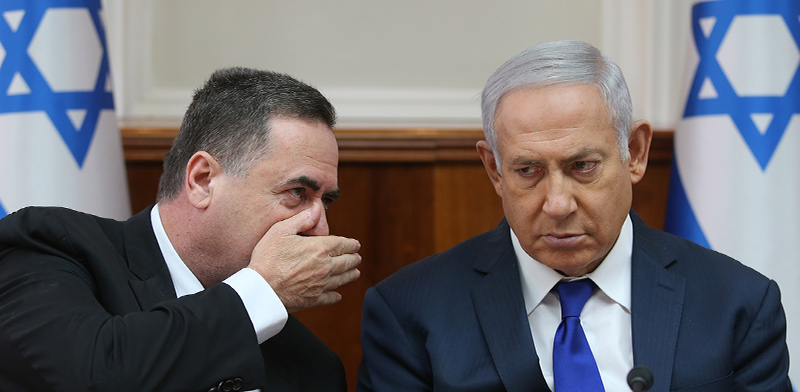 Benjamin Netanyahu and Israel Katz  / Photo: Alex Kolomoisky, Yedioth Ahronoth
