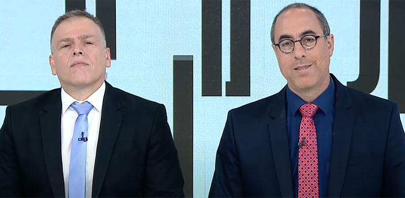 """קלמן ליבסקינד ואראל סג""""ל / צילום: צילום מסך"""