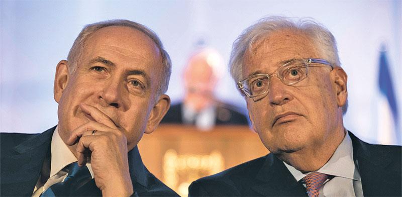 השגריר דיוויד פרידמן וראש הממשלה בנימין נתניהו / צילום: רויטרס