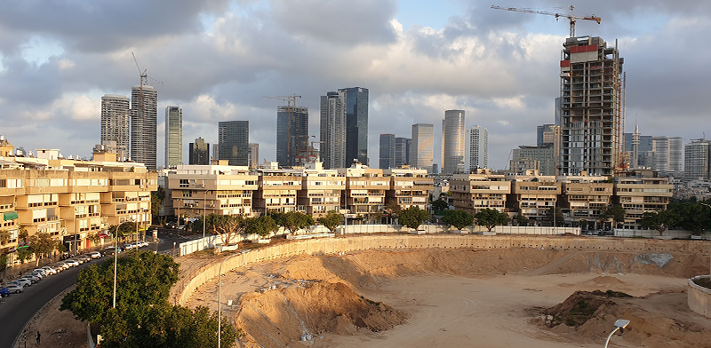 Construction in central Tel Aviv  / Photo: Guy Lieberman , Globes