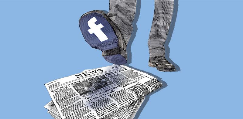 מחאת המפרסמים נגד פייסבוק מדלגת על ישראל / איור: גיל ג'יבלי, גלובס