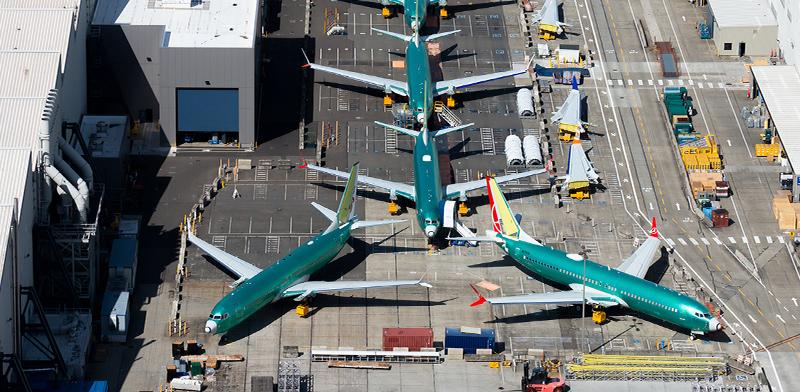 """מטוס 737 Max במפעל של בואינג בארה""""ב / צילום: shutterstock, שאטרסטוק"""