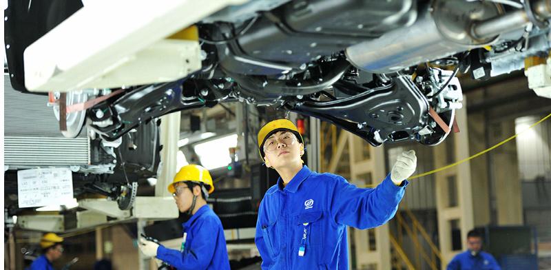 מפעל רכב של GM בסין. קאמבק במכירות / צילום: Yu fangping, רויטרס