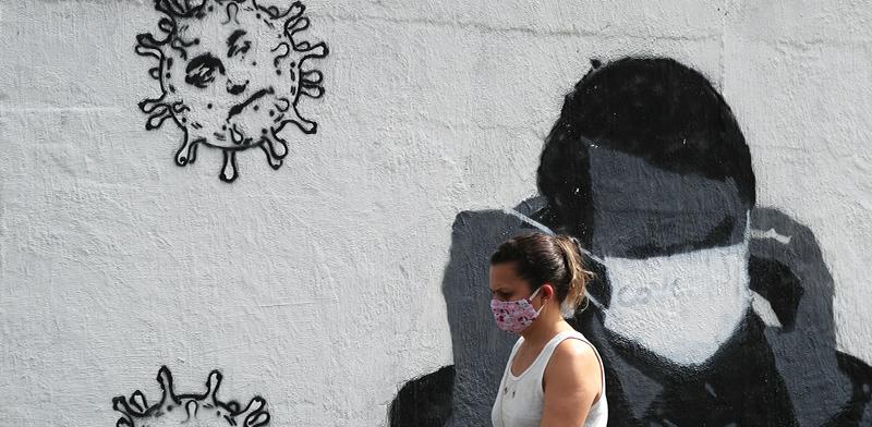 גרפיטי קורונה בריו דה ז'נירו / צילום: Sergio Moraes, רויטרס