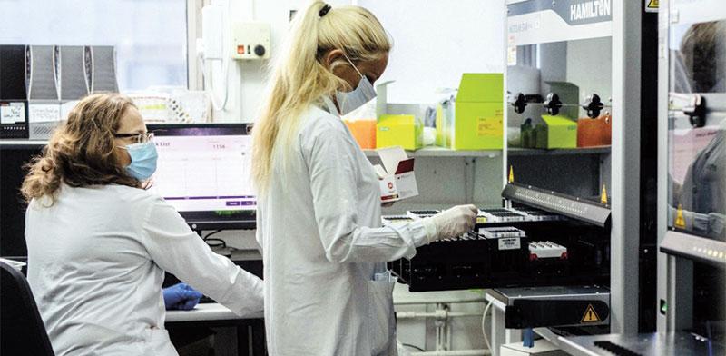 Coronavirus testing  / Photo: Rabin Medical Center Spokesperson