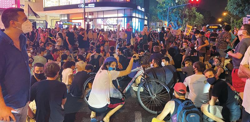 הפגנה בתל אביב השבוע / צילום: בר לביא, גלובס
