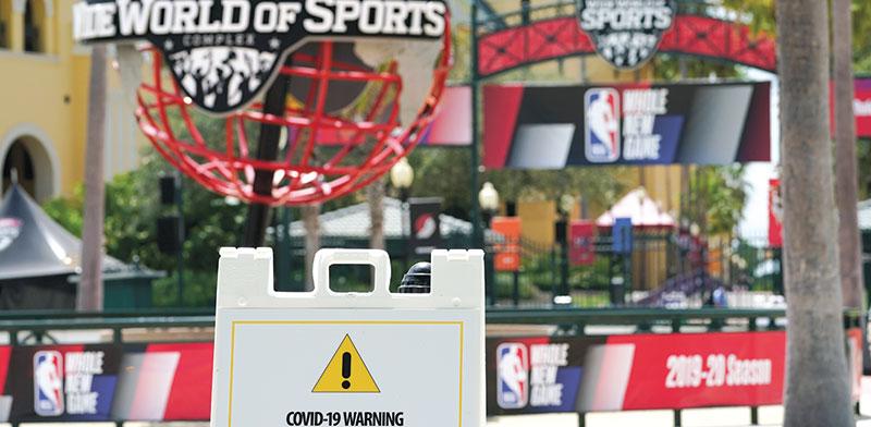 המתחם המבודד של ה־NBA בפלורידה / צילום: Ashley Landis, Associated Press
