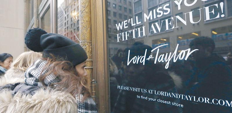 החנות היוקרתית של לורד אנד טיילור בשדרה החמישית בניו יורק נסגרה ב־2019  / צילום: Kathy Willens, Associated Press