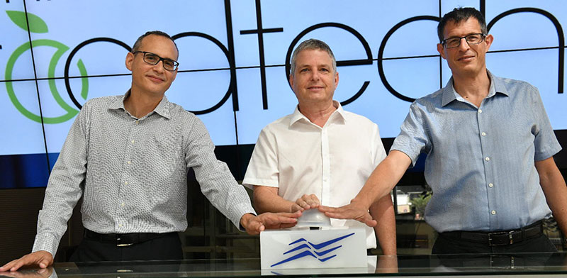 Millennium IPO Chanan Schneider, Guy Rosen and Itai Ben-Zeev  / Photo: Israel Hadari