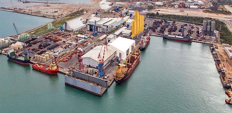 נמל חיפה. פעילות הנמל של מספנות ישראל ייצרה הכנסות של 128 מיליון שקל ב־2019  / צילום: מצגת החברה