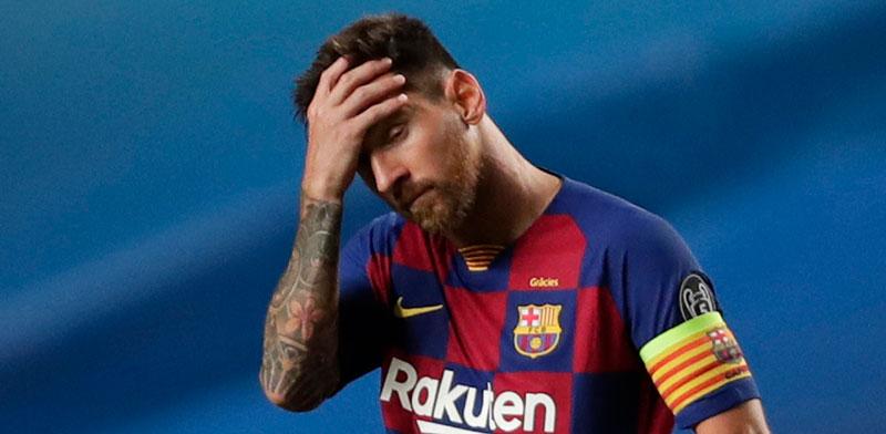 ליאו מסי במשחק מול באיירן מינכן, החודש / צילום: Manu Fernandez, Associated Press
