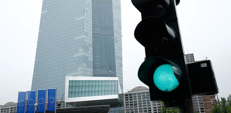 """מטה הבנק המרכזי האירופי. תוכנית רכישת אג""""ח בהיקף של 1.35 טריליון אירו / צילום: Ralph Orlowsk, רויטרס"""