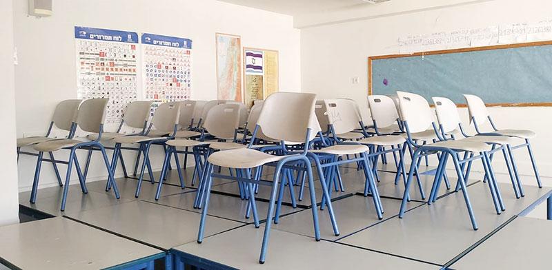 כיתה ריקה בבית ספר בבת ים / צילום: אביבה גנצר, גלובס