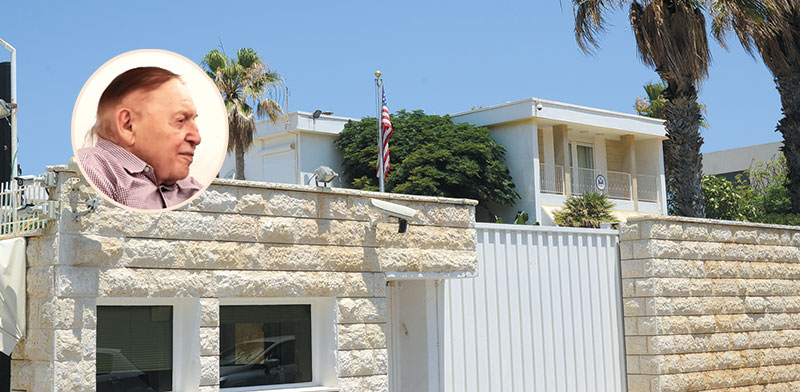 Sheldon Adelson and US Ambassador's residence in Herzliya Pituah / Photo: Eyal Izhar, Globes