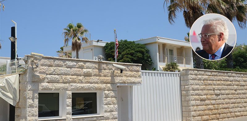 US Ambassador's Residence Herzliya and David Friedman  / Photo: Eyal Izhar, Kobi Gidon GPO