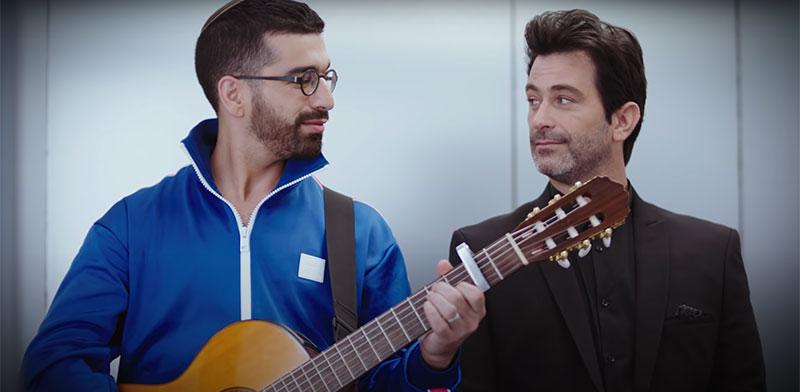 חנן בן ארי ויהודה לוי בקמפיין החדש לפלאפון / צילום: הערוץ הרשמי של פלאפון