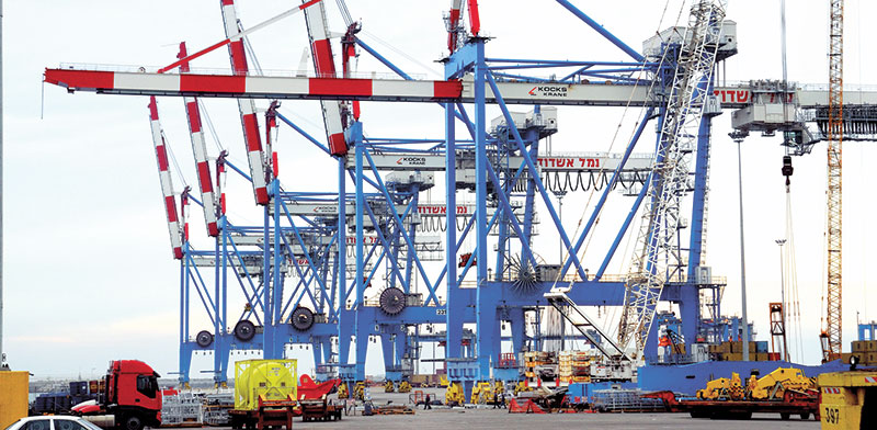 New Ashdod port being built by China Harbor  / Photo: Eyal Izhar, Globes