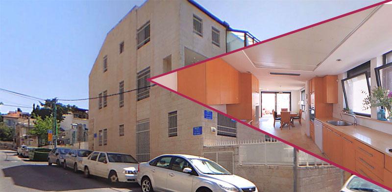 דירה ברחוב ציפורי, בין שכונות שערי חסד ונחלאות / צילום: אנגלו סכסון ירושלים
