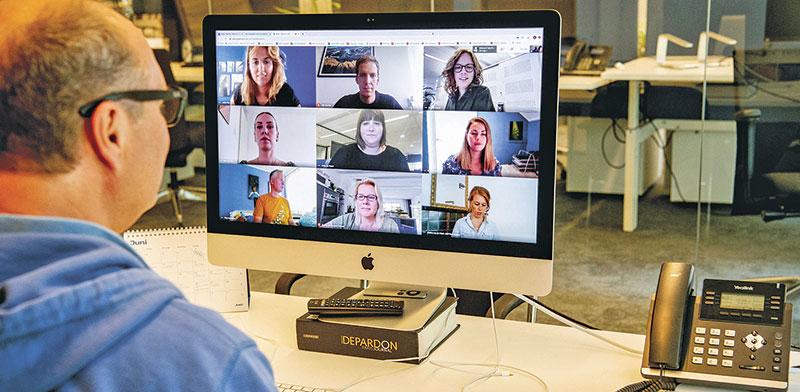 עבודה מהבית. שיפור ביעילות   / צילום: Utrecht Robin/ABACAPRESS.COM