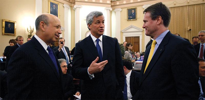 מנהלי בנקים בשימוע בפני הוועדה שחקרה את משבר 2008. ההתנצלות של חלקם לא סיפקה את הנפגעים / צילום: Jason Reed, רויטרס