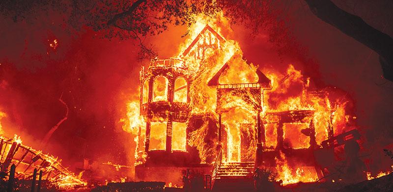 שריפה בקליפורניה, השבוע / צילום: Noah Berger, Associated Press