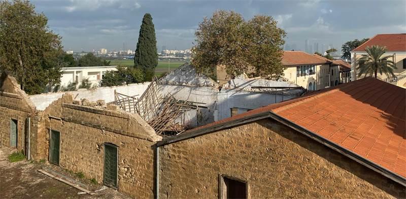 גג היקב במקווה ישראל / צילום: המועצה לשימור אתרים