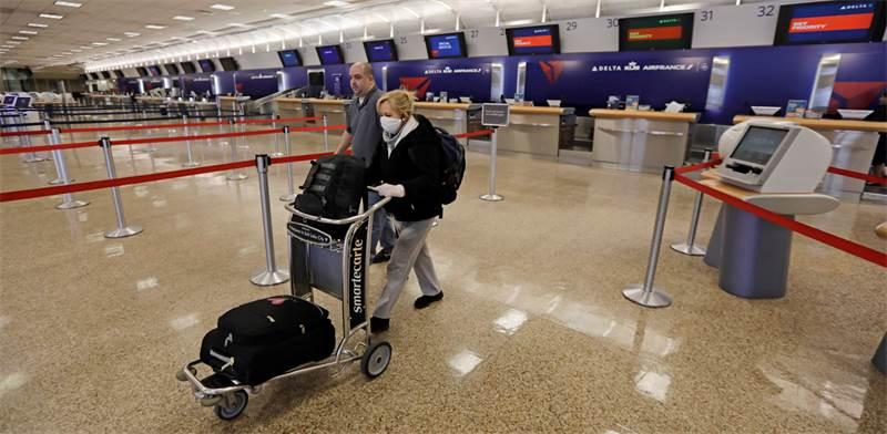 """נמל התעופה בסולט לייק סיטי בארה""""ב ריק כמעט לחלוטין / צילום: Rick Bowmer, AP"""