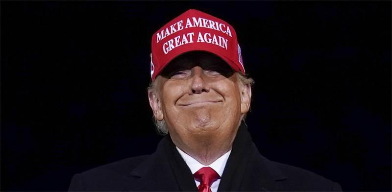 """דונלד טראמפ ביום הבחירות בארה""""ב / צילום: Evan Vucci, Associated Press"""