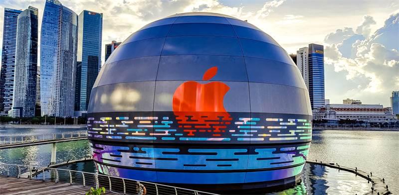 החנות הצפה החדשה של אפל בסינגפור / הדמיה: שאטרסטוק