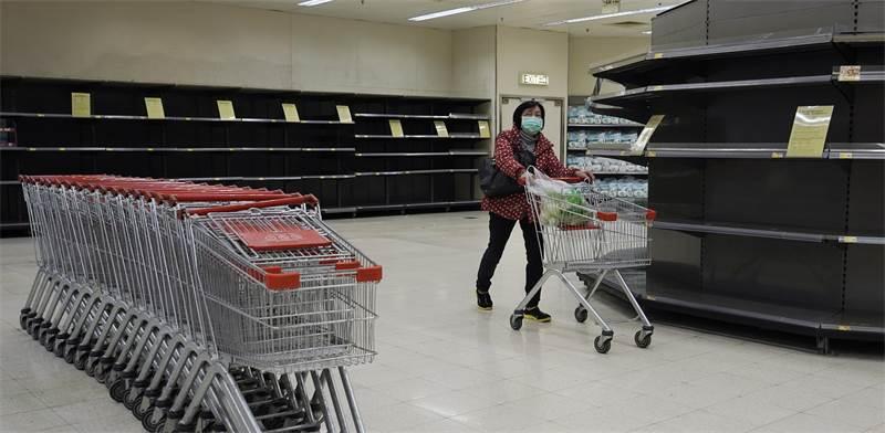 סופרמרקט בהונג קונג / צילום: Kin Cheung, AP