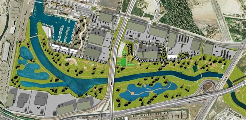 """הדמיה: 700 אלף מ""""ר של שטחים לוגיסטיים ייבנו בסמוך לנמל חיפה / צילום: משרד אדריכלים עוזי גורדון"""