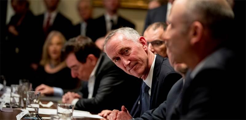 """מנכ""""ל גיליאד דניאל אודיי בפגישה את ממשל ארה""""ב בנושא נגיף הקורונה / צילום: Andrew Harnik, AP"""